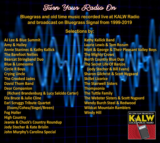 KALW Spring Membership Campaign edition of Bluegrass Signal