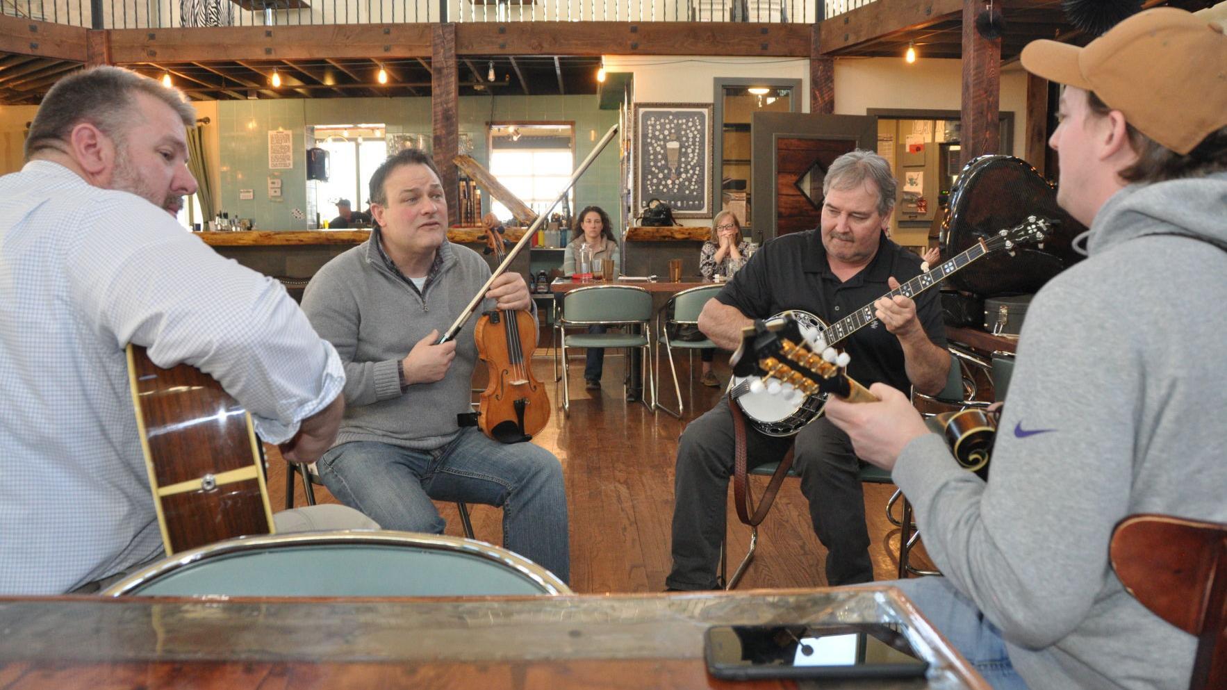 Bluegrass rehearsal